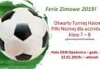 Otwarty Turniej Halowej Piłki Nożnej dla uczniów SP 7