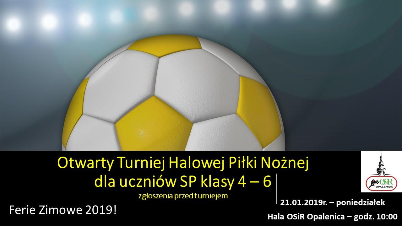 Otwarty Turniej Halowej Piłki Nożnej dla uczniów SP